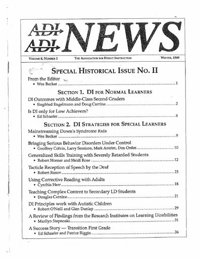 DI News, Vol. 8, No. 2 - Winter 1989