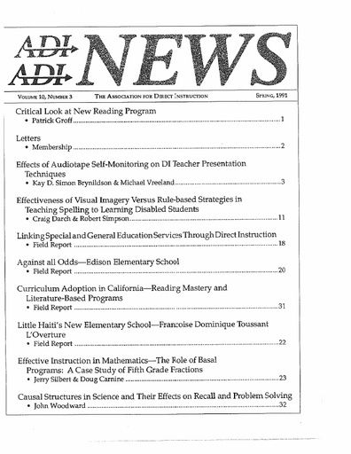 DI News, Vol. 10, No. 3 - Spring 1991