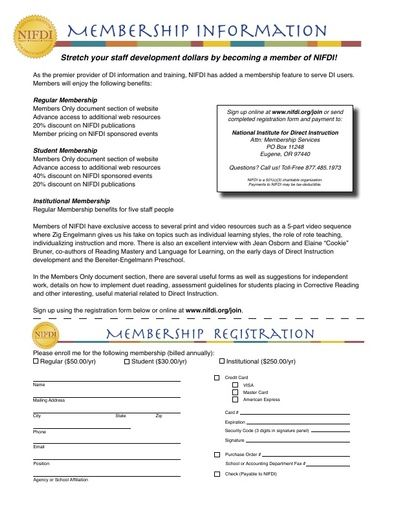 NIFDI Membership Registration Form