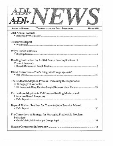 DI News, Vol. 10, No. 2 - Winter 1991