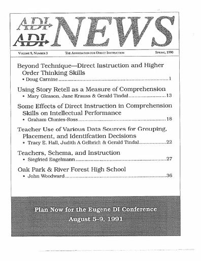 DI News, Vol. 9, No. 3 - Spring 1990