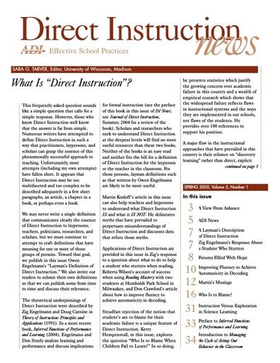DI News, Vol. 5, No. 1 - Spring 2005