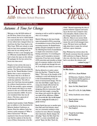 DI News, Vol. 10, No. 3 - Fall 2010