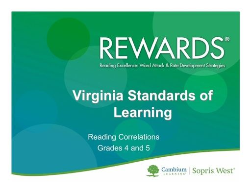 REWARDS Virginia Standards Correlation