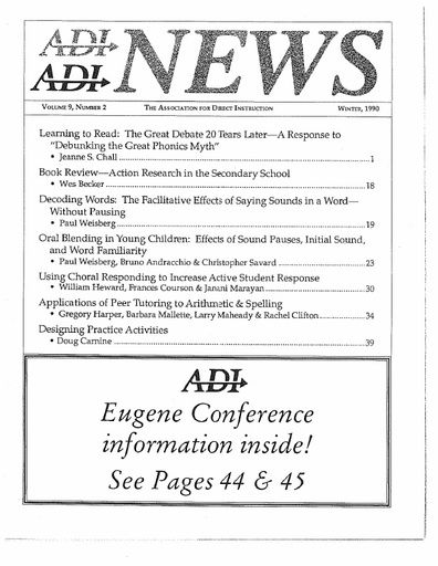 DI News, Vol. 9, No. 2 - Winter 1990
