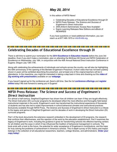 NIFDI News! 05-20-14 Edition