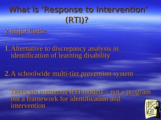 RTI Presentation (2012) Power Point