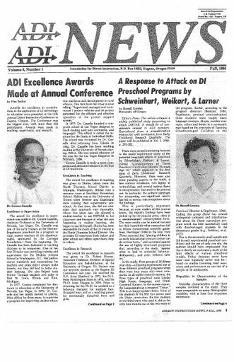 DI News, Vol. 6, No. 1 - Fall 1986
