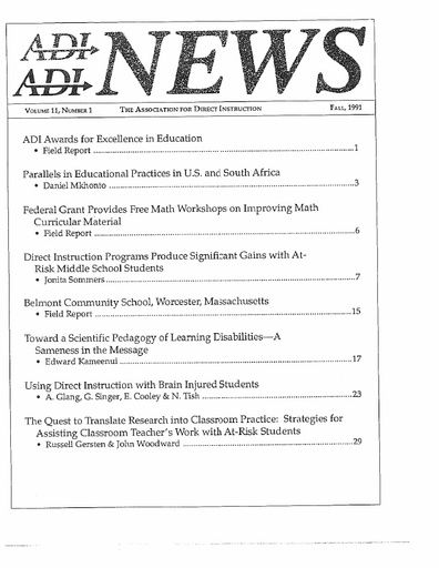 DI News, Vol. 11, No. 1 - Fall 1991