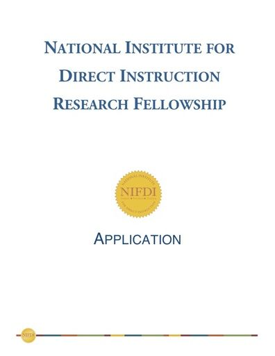 Research Fellowship Information Packet