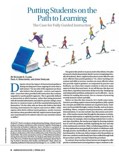 Putting Students on the Path to Learning (American Federation of Teachers, Spring 2012)