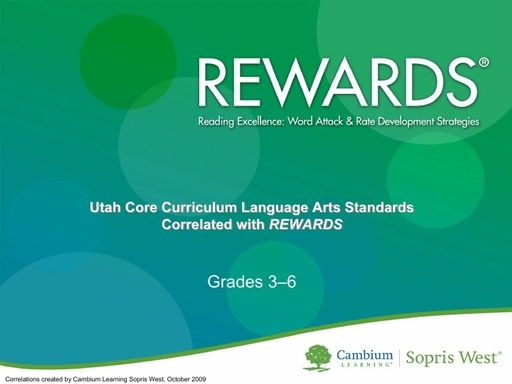 REWARDS Utah Standards Correlation