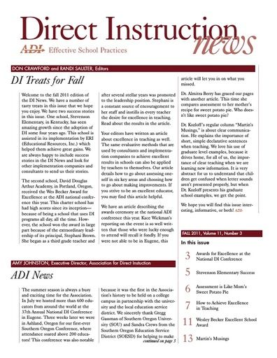 DI News, Vol. 11, No. 3 - Fall 2011