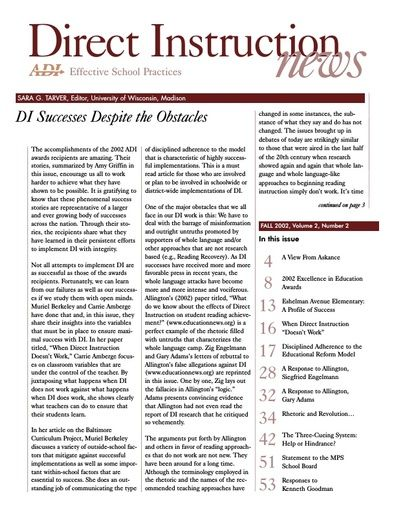 DI News, Vol. 2, No. 2 - Fall 2002