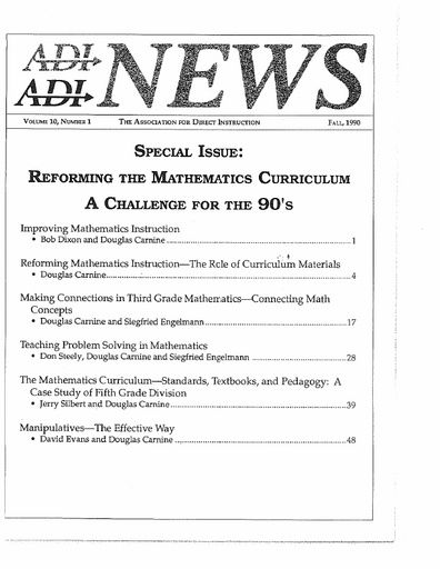 DI News, Vol. 10, No. 1 - Fall 1990