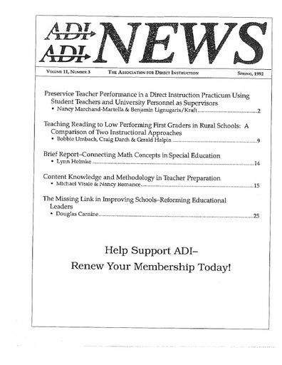 DI News, Vol. 11, No. 3 - Spring 1992
