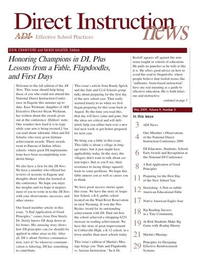 DI News, Vol. 9, No. 3 - Fall 2009