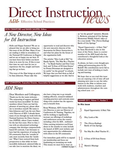 DI News, Vol. 11, No. 2 - Summer 2011