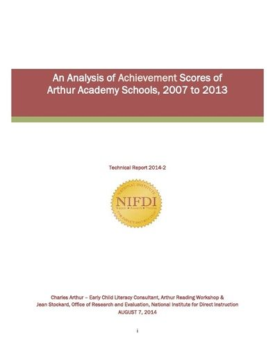 2014-2: An Analysis of Achievement Scores of Arthur Academy Schools, 2007 to 2013