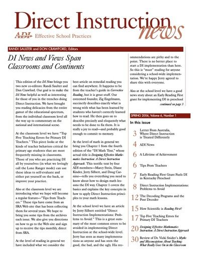 DI News, Vol. 6, No. 1 - Spring 2006