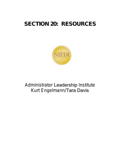 Section 20 AdditionalResources 071421
