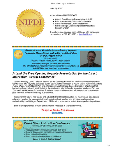 NIFDI News! July, 2020