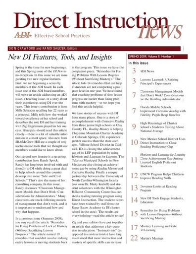 DI News, Vol. 9, No. 1 - Spring 2009