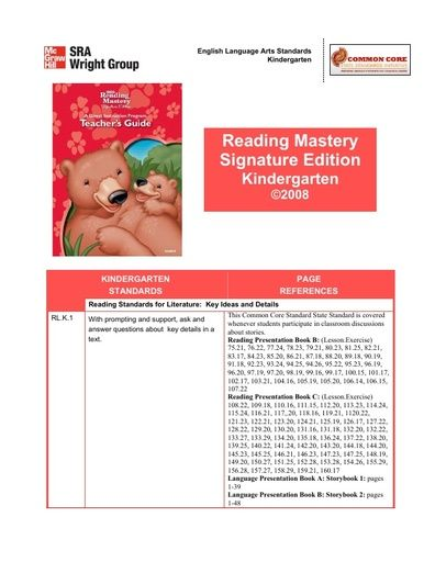 CCSS Alignment with RMSE Grade K