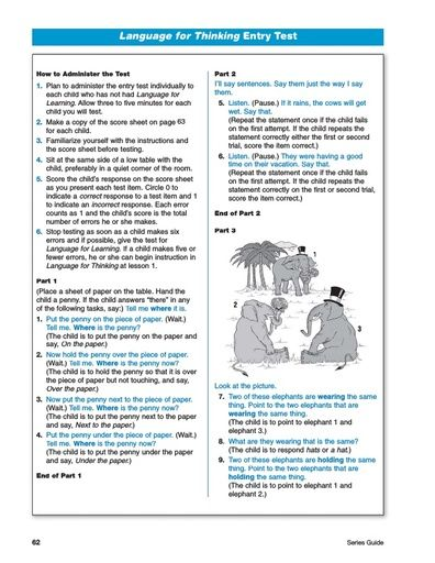 Language for Thinking Placement Test