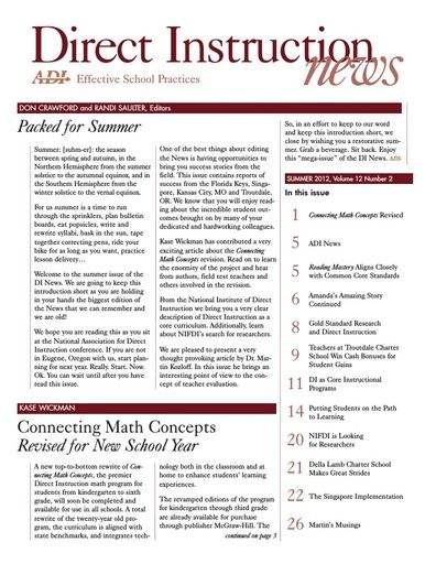 DI News, Vol. 12, No. 2 - Summer 2012