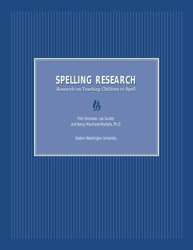 Spelling Mastery Research Base